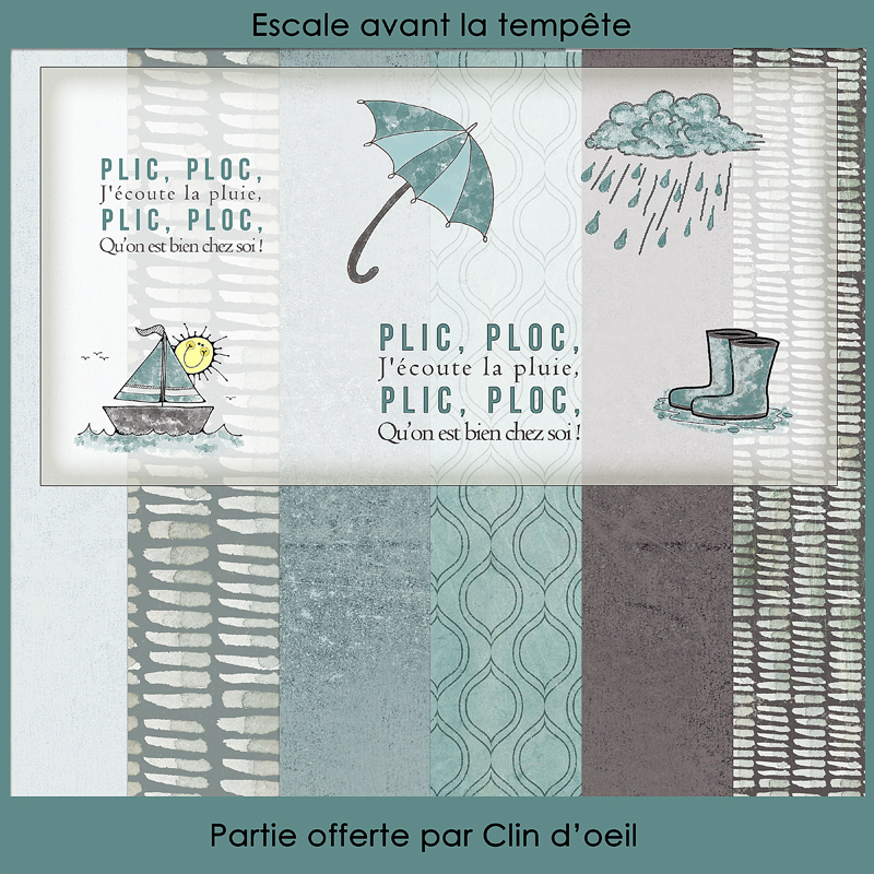 Collab freebie Publiscrap Escale avant la tempête