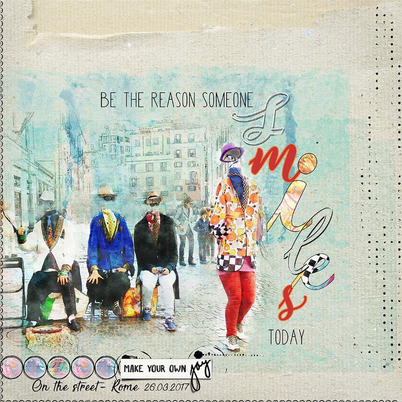 Scène de rue Rome Collab Oscrap JOY