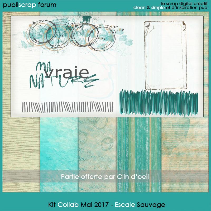 Kit Collab Publiscrap Escale Sauvage - Partie clin d'oeil