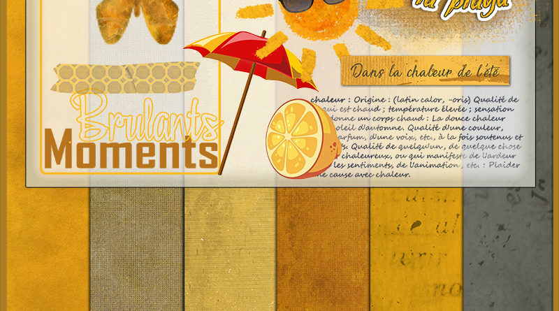 Kit collab escale Caliente Publiscrap