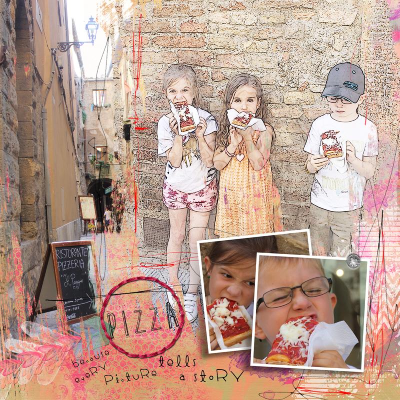 Meilleurs moments : Pizza ! page scrap digital par Clin d'oeil design