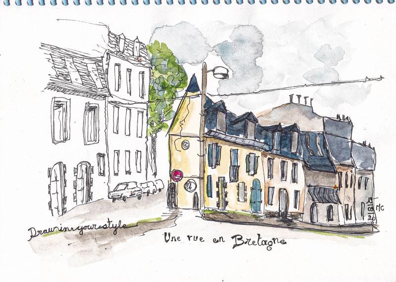 Une rue en Bretagne