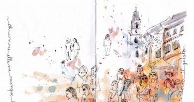 Dessiner la foule piazza Navona