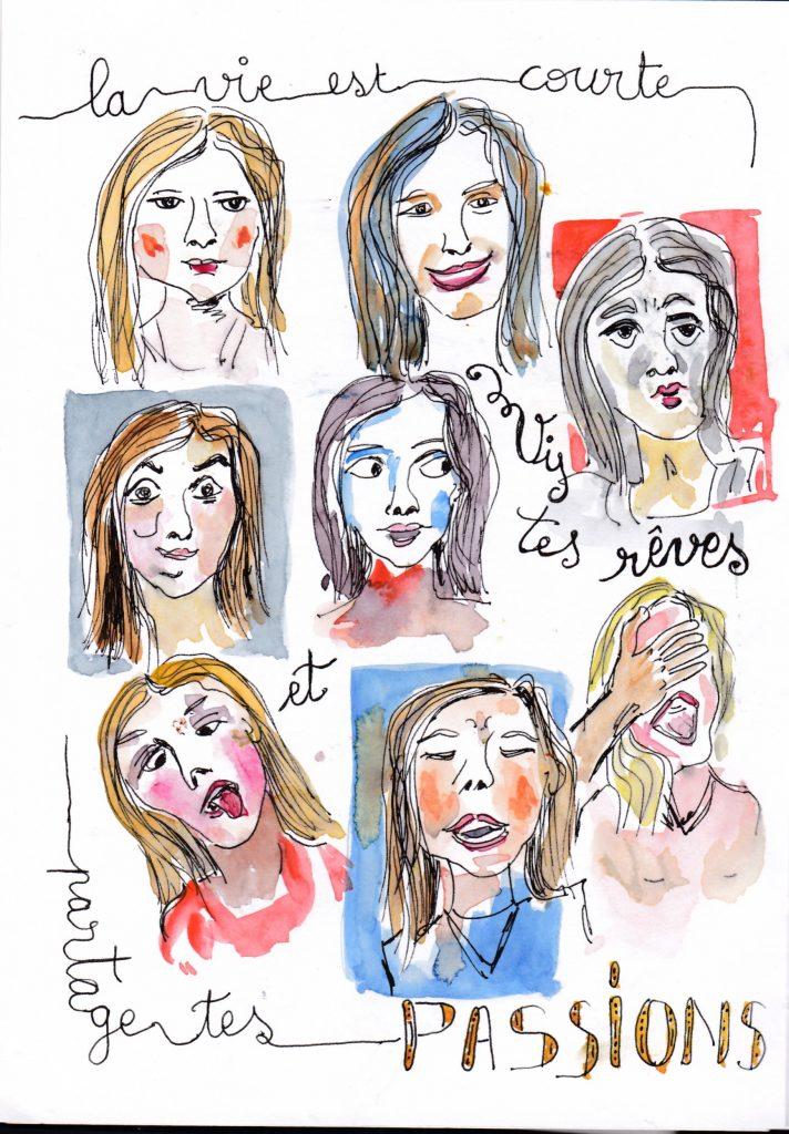 Des portraits, et encore des portraits