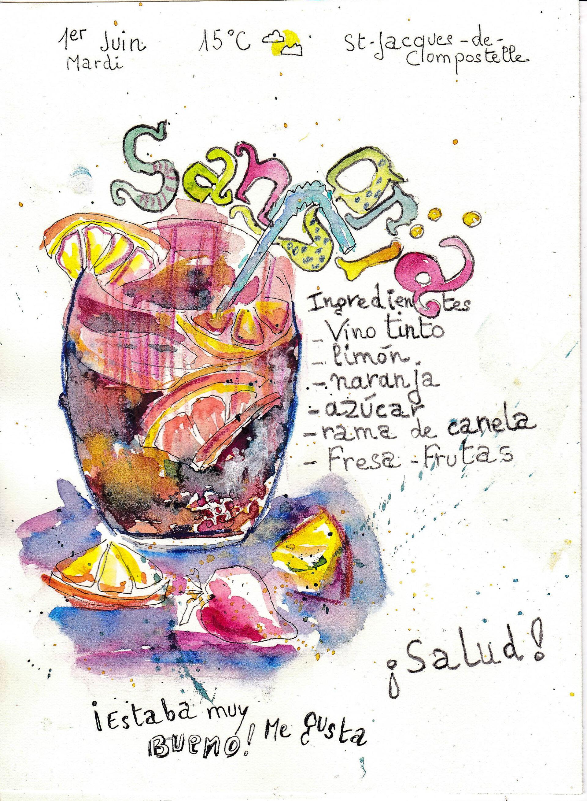 Sketchbook carnet voyage en Espagne